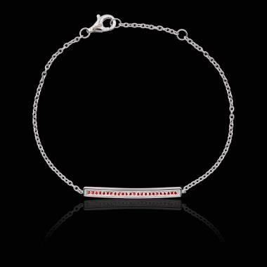 Bracelet diamant rubis Pavé