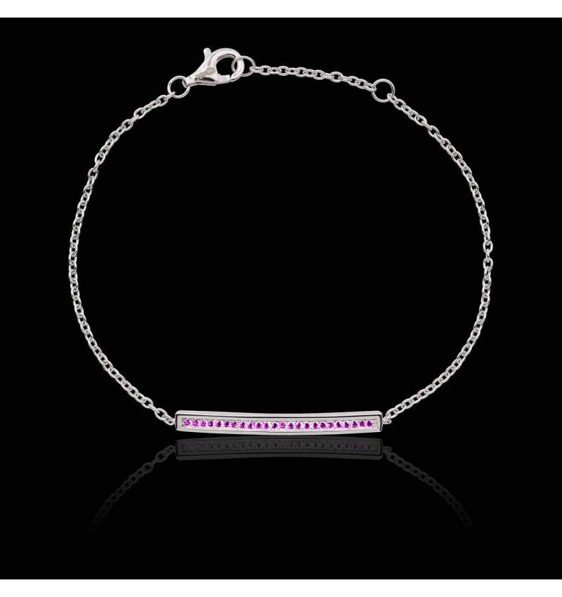 Bracelet saphir rose Pavé