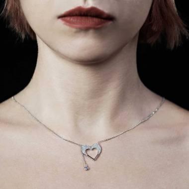 Pendentif diamant Coeur d'Amour