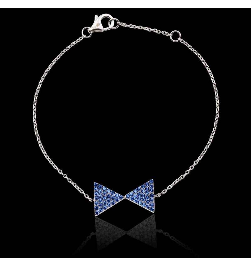 Bracelet saphir bleu Noeud Papillon
