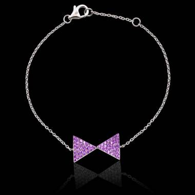 Bracelet saphir rose Noeud Papillon