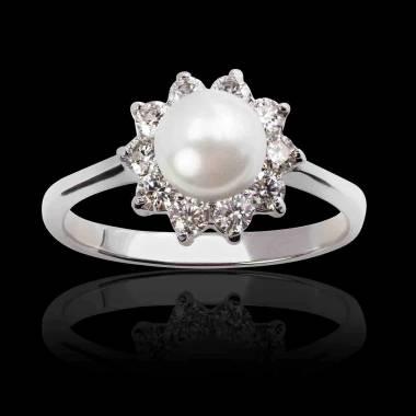Bague perle blanche Ambrosia