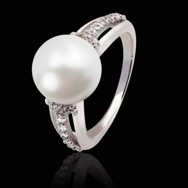 Bague perle blanche Melina
