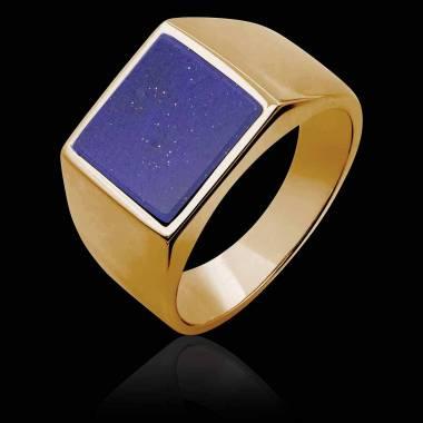 Men's Signet Ring Rose Gold...