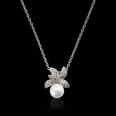 Céleste White Pearl Pendant