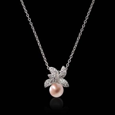Céleste Pink Pearl Pendant