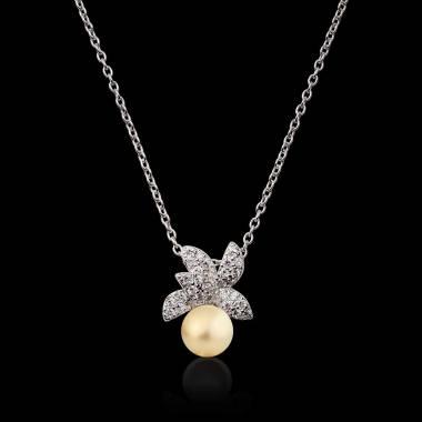 Céleste Gold Pearl Pendant