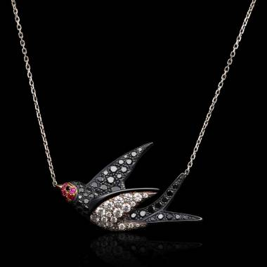 Hirondelle Diamond Pendant