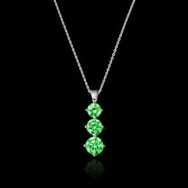 Trilogy Emerald Pendant