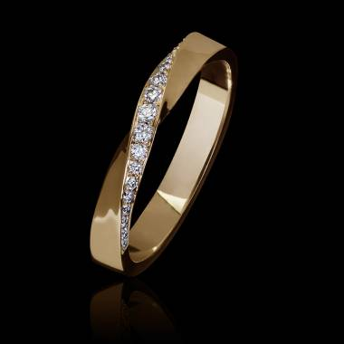 Auxence Rose Gold Wedding Band