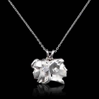 Gémeaux Diamond Pendant