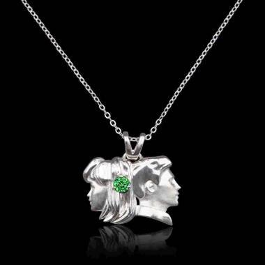 Gémeaux Emerald Pendant