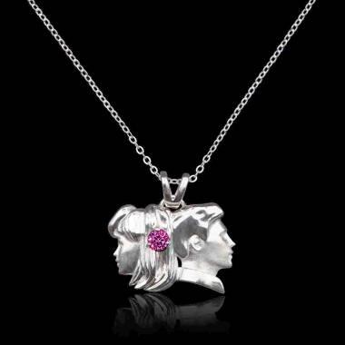 Gémeaux Pink Sapphire Pendant