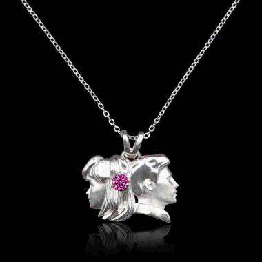 Gemini Pink Sapphire Pendant