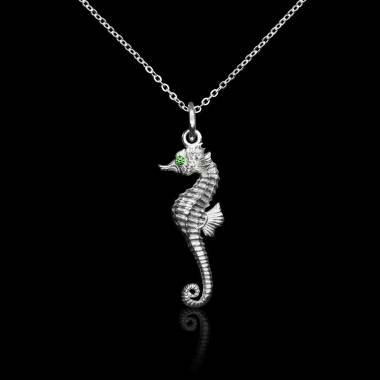 Seahorse Emerald Pendant