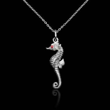 Seahorse Ruby Pendant