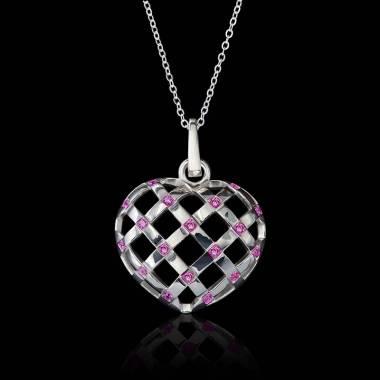 Interlaced Heart Pink...