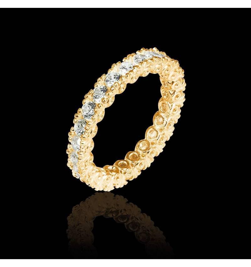 Diamond Yellow Gold Wedding Band Jupiter