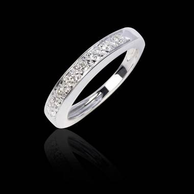 Deliciae Diamond Wedding Band Platinium
