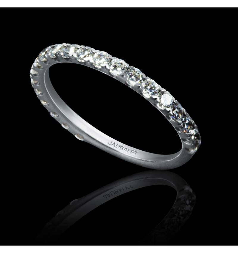 Diamond Wedding Band Platinum Emilie