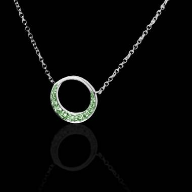 Emerald Pendant Gold Clair de Lune