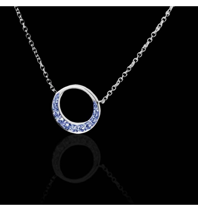 Blue Sapphire Pendant Gold Clair de Lune