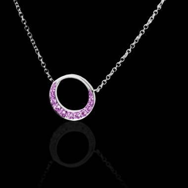Pink Sapphire Pendant Gold  Clair de Lune