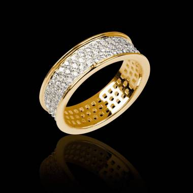 Diamond Yellow Gold Wedding Band Jupiter