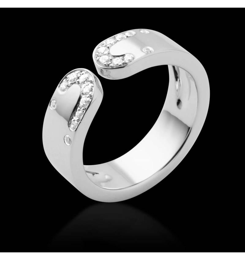Diamond Wedding Band White Gold Seductrice
