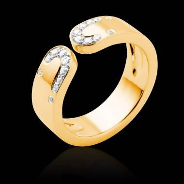 Diamond Wedding Band Yellow Gold Seductrice