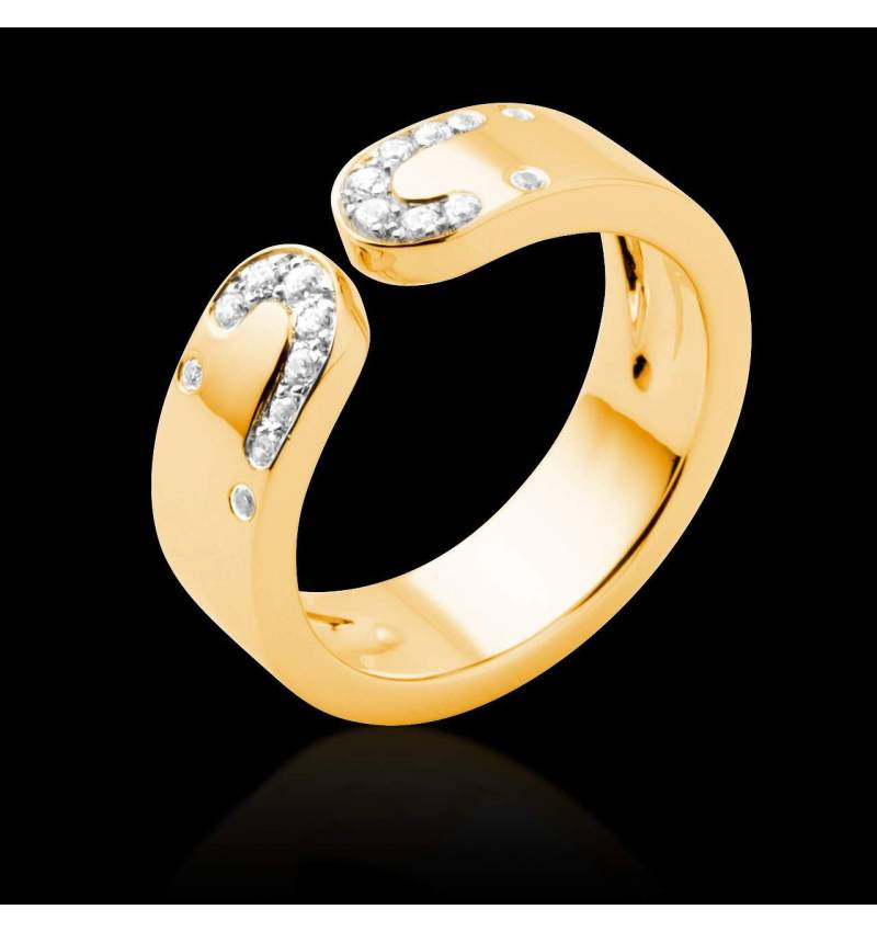 Diamond Wedding Band Yellow Gold Seductrice