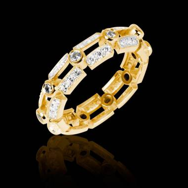 Diamond Wedding Band Yellow Gold Terre