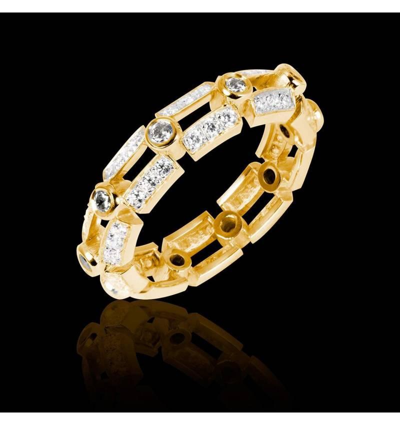 Diamond Wedding Band Yellow Gold Terre