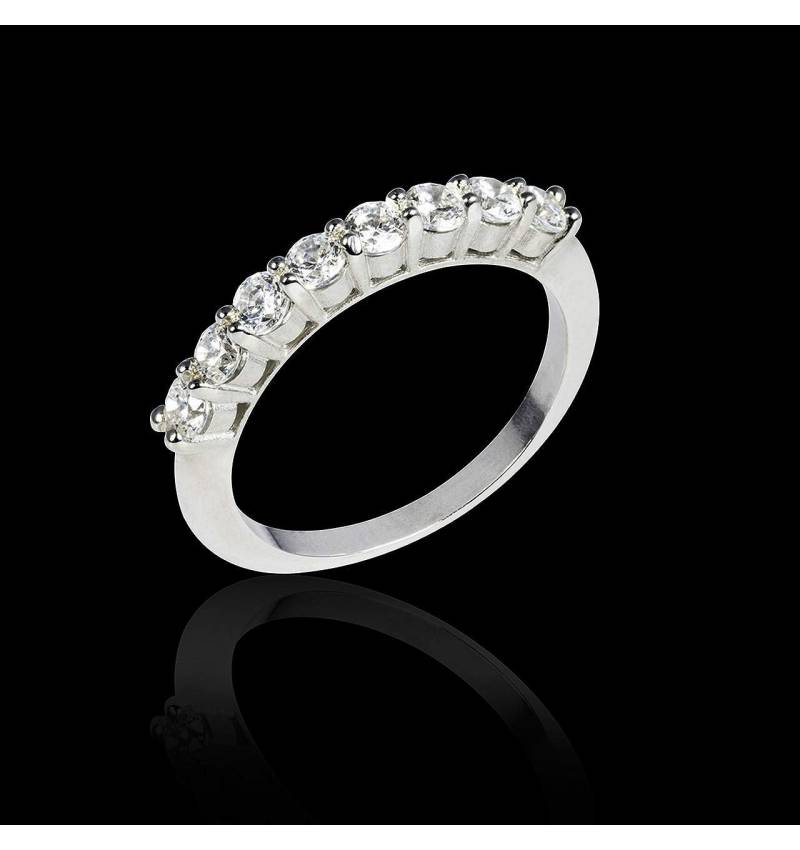 Diamond Wedding Band White Gold Mercure