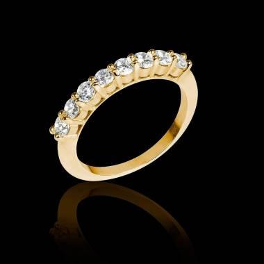 Diamond Wedding Band Yellow Gold Mercure