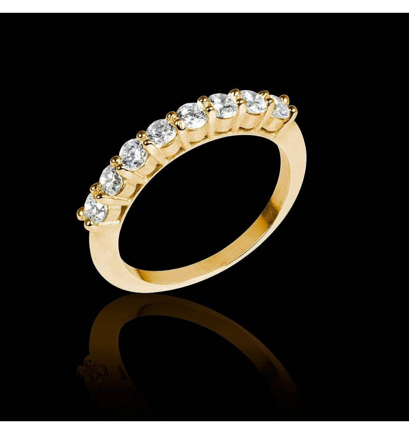 Diamond Wedding Band Yellow Gold Mercure