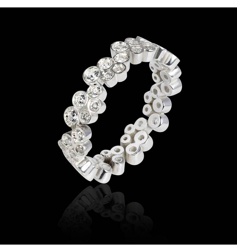 Diamond Wedding Band White Gold Neptune