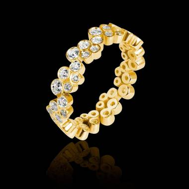 Diamond Wedding Band Yellow Gold Neptune