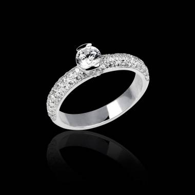 Diamond Engagement ring White Gold Orphee