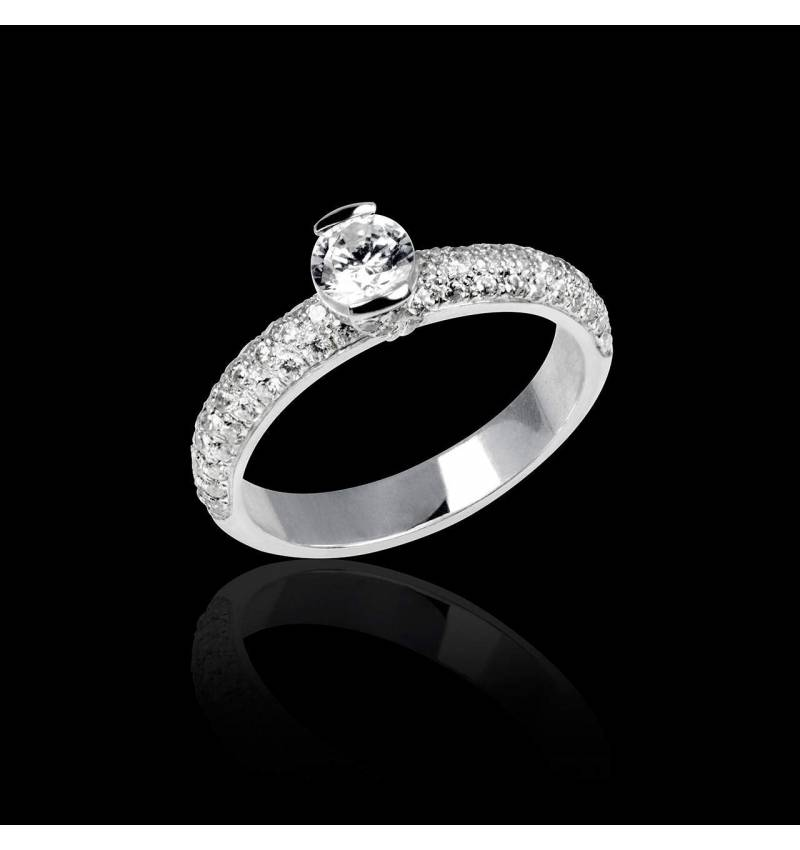 Diamond Engagement ring White Gold Orphee