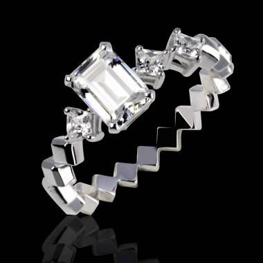 Diamond Engagement Ring White Gold Elsa