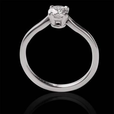Diamond Engagement Ring White Gold Vanessa Solo