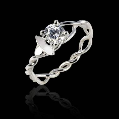 Diamond Engagement Ring White Gold Vigne