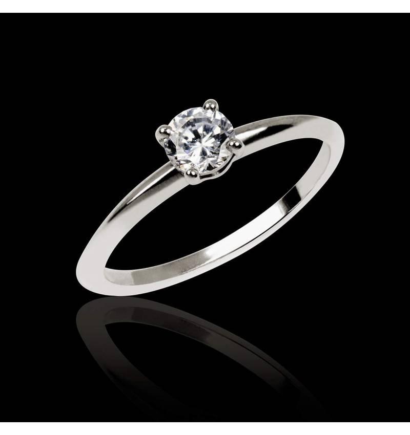 Diamond engagement ring white gold Valentina