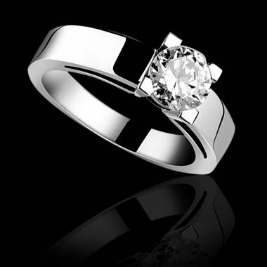 Diamond engagement ring white gold Céline